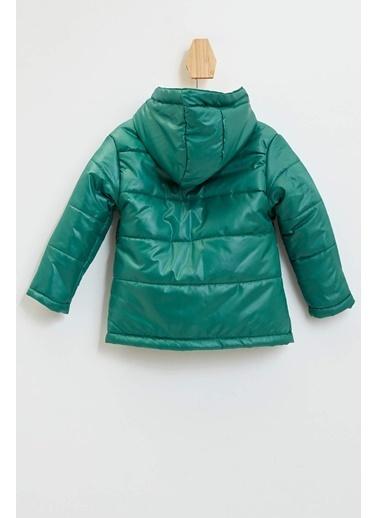 DeFacto Erkek Bebek Kapüşonlu Baskılı Mont Yeşil